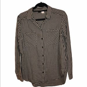 H&M DIVIDED women's checkered button down size 4
